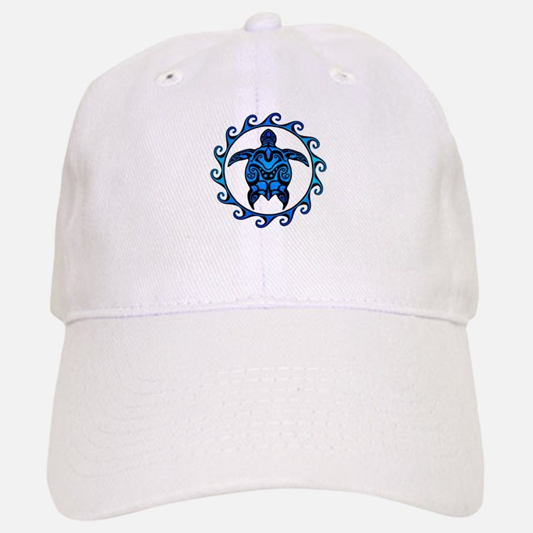 Maori Tribal Blue Turtle Baseball Baseball Baseball Cap