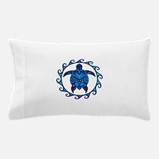 Maori Tribal Blue Turtle Pillow Case