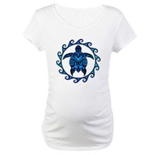 Maori Tribal Blue Turtle Shirt