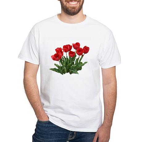 Tulips White T-Shirt