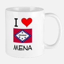 I Love MENA Arkansas Mugs