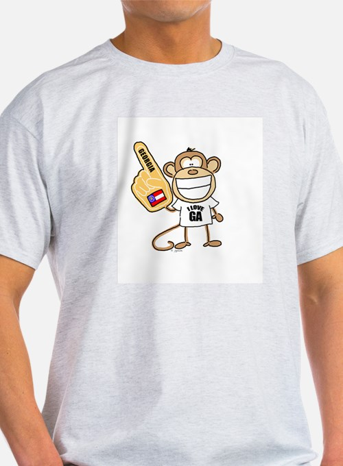GEORGIA MONKEY Ash Grey T-Shirt