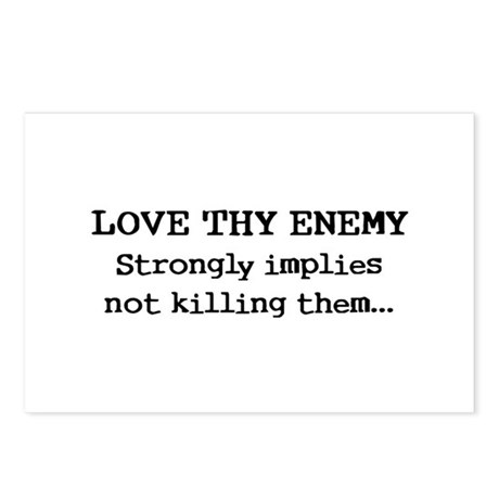 Love Thy Enemy? Postcards (Package of 8)