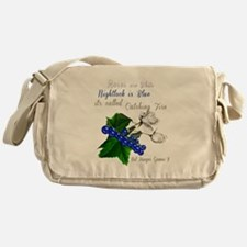 Roses are White Nightlock is Blue Messenger Bag