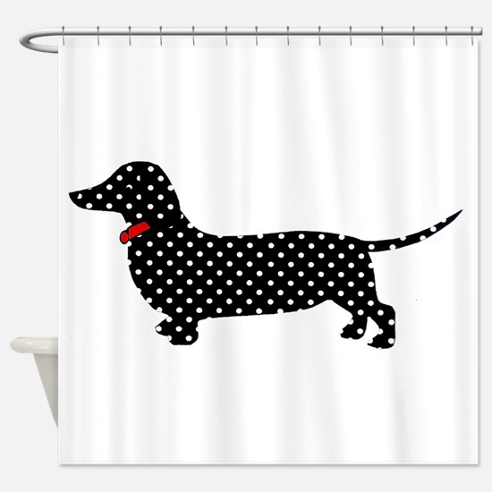 Spot the Dachshund Shower Curtain