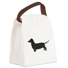 Spot the Dachshund Canvas Lunch Bag