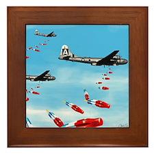 WWII Air Corp B-29 Bombing Pops Framed Tile