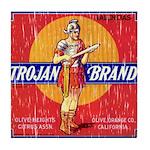 Trojan Brand Tile Coaster