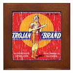 Trojan Brand Framed Tile