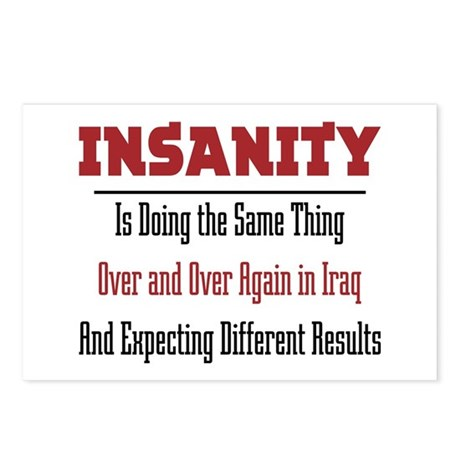 Insanity Postcards (Package of 8)