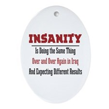 Insanity Oval Ornament