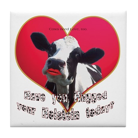 Cows Need Love Tile Coaster
