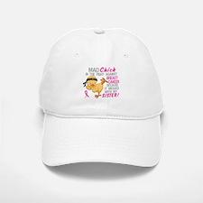 Mad Chick 3L Breast Cancer Baseball Baseball Cap