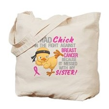 Mad Chick 3L Breast Cancer Tote Bag