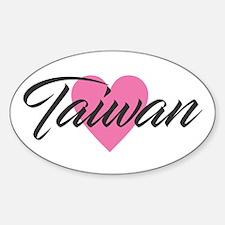 I Heart Taiwan Decal