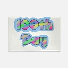 100th Day of School Rectangle Magnet