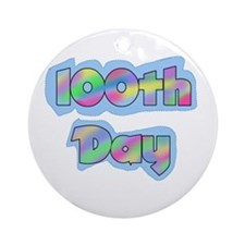 100th Day of School Ornament (Round)