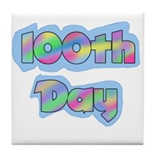 100th Day of School Tile Coaster
