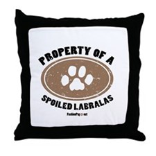 Labralas dog Throw Pillow