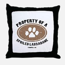 Labradane dog Throw Pillow