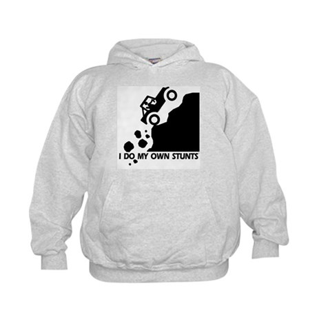 Up The Hill Jeep, I Do My Own Stunts Kids Hoodie