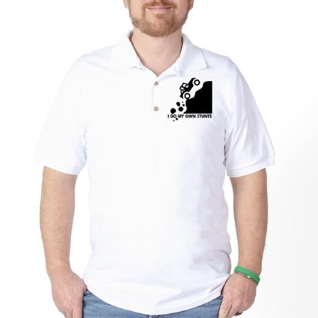 Up The Hill Jeep, I Do My Own Stunts Golf Shirt