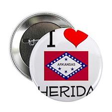 """I Love SHERIDAN Arkansas 2.25"""" Button"""