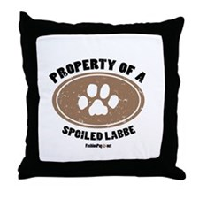 Labbe dog Throw Pillow