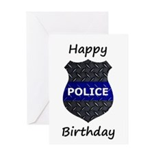 Police Birthday Card Greeting Cards