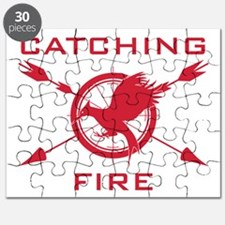 Catching Fire Arrows Red Logo Puzzle
