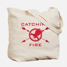 Catching Fire Arrows Red Logo Tote Bag