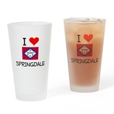 I Love SPRINGDALE Arkansas Drinking Glass