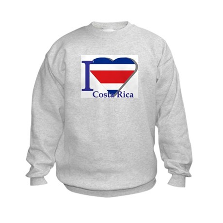 I love Costa Rica Kids Sweatshirt
