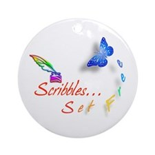 Scribbles Set Free Ornament (Round)