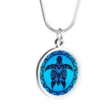 Maori Ocean Blue Turtle Necklaces