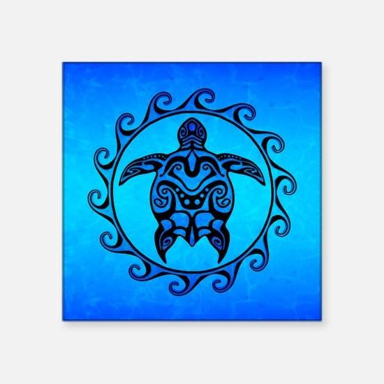 Maori Ocean Blue Turtle Sticker