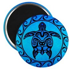 Maori Ocean Blue Turtle Magnets