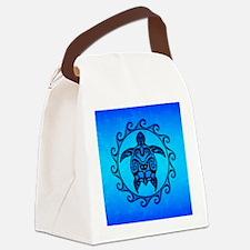 Maori Ocean Blue Turtle Canvas Lunch Bag