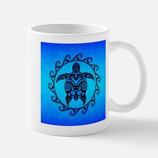 Maori Ocean Blue Turtle Mugs