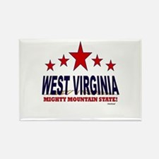 West Virginia Mighty Mountain Sta Rectangle Magnet