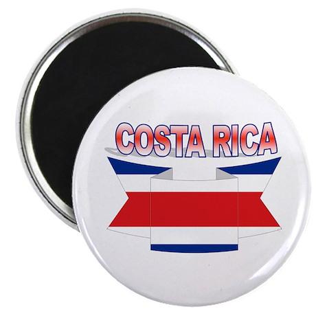 Costa Rica Flag Ribbon Magnet