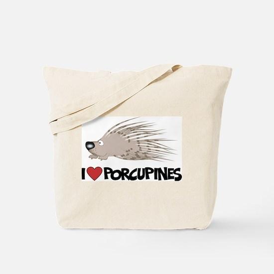 I Love Porcupine Tote Bag