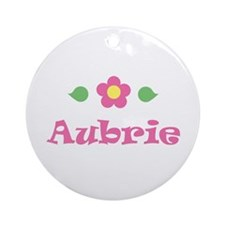 "Pink Daisy - ""Aubrie"" Ornament (Round)"
