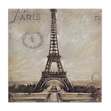 """We'll always have Paris"" Tile Coaster"