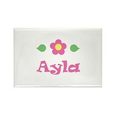 "Pink Daisy - ""Ayla"" Rectangle Magnet"