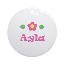 "Pink Daisy - ""Ayla"" Ornament (Round)"