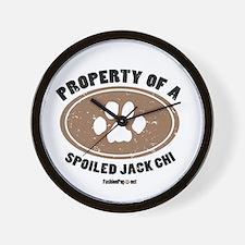 Jack Chi  dog Wall Clock