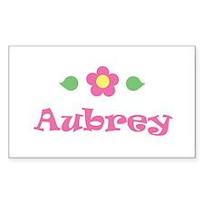 "Pink Daisy - ""Aubrey"" Rectangle Decal"