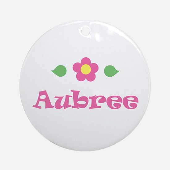 "Pink Daisy - ""Aubree"" Ornament (Round)"