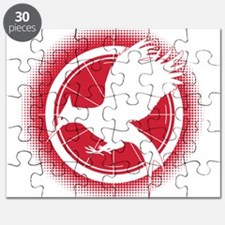 Catching Fire Mockingjay Red Halftone Puzzle